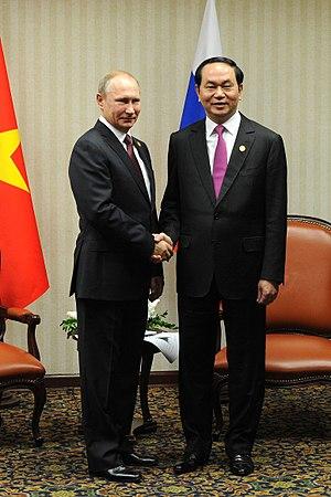 Trần Đại Quang and Vladimir Putin, 2016-02