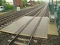 Track crossing at Guilford station, May 2013.JPG