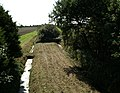 Trackbed of dismantled railway, looking South from Carr Moss Lane - geograph.org.uk - 1497945.jpg