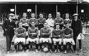 Black and white photograph of Tranmere Rovers squad