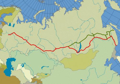 Trans siberian railroad small
