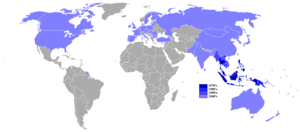 Treaty of Amity and Cooperation in Southeast Asia - Countries that entered into the treaty by date