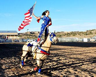 Rio Arriba County, New Mexico - Trick Rider, Rio Arriba Rodeo, 2013