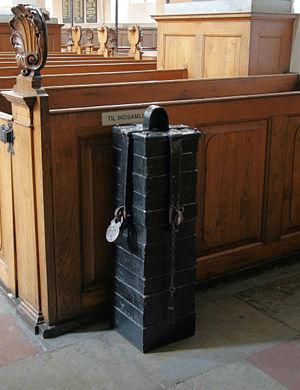 Trinitatis Kirke, Copenhagen, Denmark. Pengeblok.