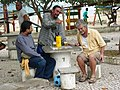 Trio of Men at Barra de Lagoa - Santa Catarina Island - Brazil.jpg