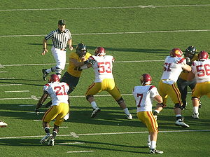 Matt Barkley - Barkley looks to pass against California in October 2009.
