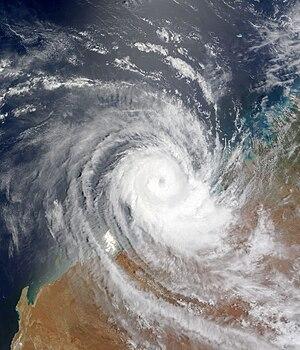 2008–09 Australian region cyclone season - Image: Tropical Cyclone Billy 24 December 2008