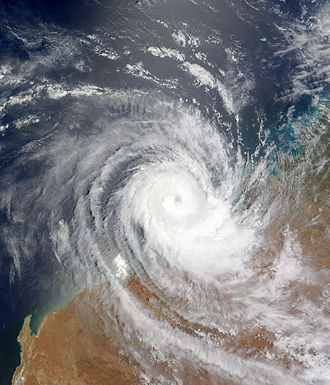 2008–09 Australian region cyclone season - Image: Tropical Cyclone Billy 24 December 2008