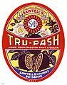 Tru-Pash cordial label, Sawtell and Hauritz Brisbane (19683839350).jpg