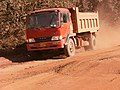 Truck on Afobaka road 2.JPG