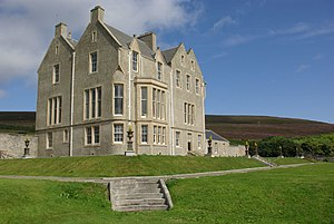 Rousay - Trumland House on Rousay, designed by David Bryce who also designed Balfour Castle on Shapinsay.