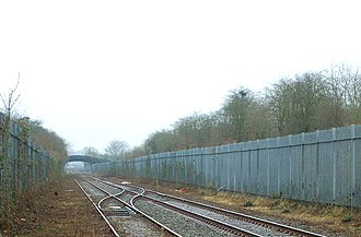 Leamington–Rugby line - This siding near Rugby is all that remains of the Rugby–Leamington railway line.