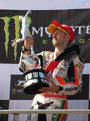 Ian Hutchinson (motorcycle racer) - Image: Tt grandstand IMG 1080