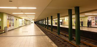 Kurfürstendamm (Berlin U-Bahn) - Platform of the U1