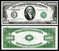 Image result for $5000 bill