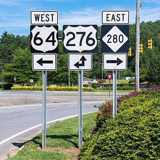 North Carolina Highway 280 - NC 280 starts east from US 64/US276, in Brevard