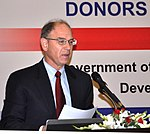 USAID Director for Punjab Province Dr. Miles Toder speaking at a conference to promote public and private sector cooperation in the dairy and livestock sectors (18671963559).jpg