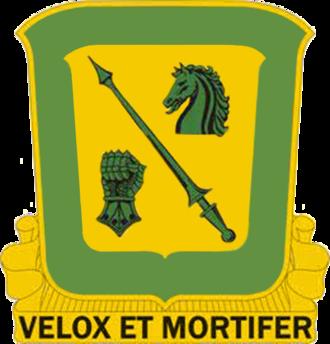 18th Cavalry Regiment - Image: USA 18 CAV REGT