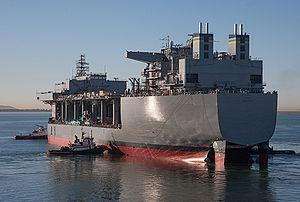 USS Lewis B. Puller (ESB-3) - Post-launch (Nov. 6, 2014)