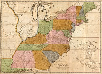 In 1804, Assistant Postmaster Bradley created this updated map of postal roads connecting towns from Maine territory to the new Louisiana territory. These maps were produced in sufficient enough quantity to be displayed in post offices all across the nation. USPostRoadMap1804.jpg