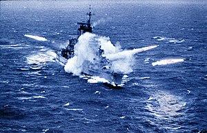 USS Albany (CG-10) firing missiles 1963 (colour).jpg