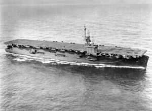 USS Cape Esperance (CVE-88) underway c1945