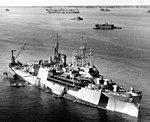 USS Currituck (AV-7) at anchor in Seeadler Harbor, Manus, on 19 October 1944 (NH 55534).jpg