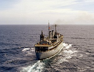 USS Dixie (AD-14) underway 1976 (stern view).JPEG
