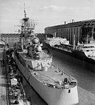 USS Little Rock (CLG-4) at New York Shipbuilding, Camden, on 19 December 1959 (7578042).jpg