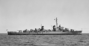USS McKean (DD-784) - USS McKean (DD-784) off the San Francisco Naval Shipyard on 9 June 1952