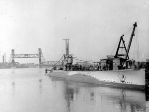 S-13 in port during the 1920s
