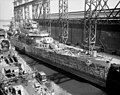 USS Springfield (CLG-7) during conversion at Fore River Yard in 1959.jpg