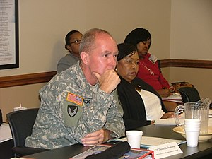 Equal opportunity - Equal opportunity issues are discussed at an army roundtable in Alabama.