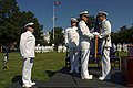US Navy 030929-N-2383B-140 Adm. Vern Clark, Chief of Naval Operations (CNO) hands over the command flag.jpg