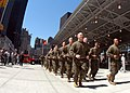 US Navy 050527-N-6343E-006 U.S. Marines, assigned to Marine Expeditionary Unit Two Four (24th MEU), run around Ground Zero in New York City to pay tribute to fallen military personal in the Global War on Terrorism during Fleet.jpg