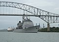 US Navy 050809-F-3177P-185 The guided missile cruiser USS Thomas S. Gates (CG 51) sails though the Bridge of the Americas as it departs the port of Vasco Nunez de Balboa.jpg