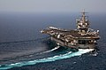US Navy 070909-N-9825N-004 USS Enterprise (CVN-65) turns downwind after launching Carrier Air Wing 1 aircraft in support of the global war on terrorism.jpg