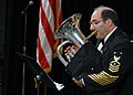US Navy 071219-N-0773H-053 Master Chief Musician Roger L. Behrend performs Tre Canzone Italiana with the Navy Band at the 61st annual Midwest Clinic.jpg