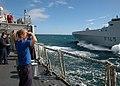 US Navy 090716-N-1655H-042 South African Navy Seaman Michella O'Dell watches her native ship, SAS Amatola (F145), come alongside USS Arleigh Burke (DDG 51).jpg
