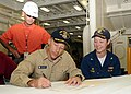 US Navy 090820-N-2147L-001 Cmdr. Curt Jones, prospective commanding officer of the San Antonio Class Amphibious transport dock ship Pre-commissioning unit New York (LPD 21)signs the delivery document aboard the ship.jpg