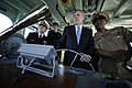 US Navy 100308-N-5549O-175 Secretary of the Navy (SECNAV) the Honorable Ray Mabus receives navigation instruction while taking the helm of a yard patrol craft at the U.S. Naval Academy.jpg