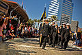 US Navy 101111-N-8590G-003 Navy ROTC cadets from Jacksonville University march in the Jacksonville Veteran's Day Parade.jpg