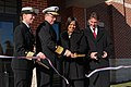 US Navy 101207-N-5339K-060 Vice Adm. Daniel P. Holloway, Commander of U.S. 2nd Fleet, cuts the ribbon during the grand opening of the Willoughby Ch.jpg