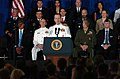 US Navy 110805-N-KV696-026 Joint Chiefs of Staff Adm. Mike Mullen introduces President Barack Obama during his visit to the Washington Navy Yard.jpg
