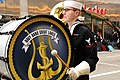 US Navy 111124-N-CD297-024 Musician 3rd Class Jonah David, from South Orange, N.J., a member of the U.S. Navy Band Great Lakes, keeps the beat on a.jpg