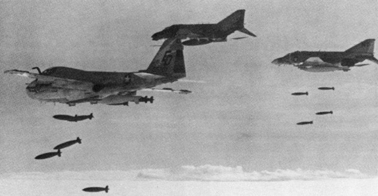 US aircraft LORAN bombing over Cambodia c1973