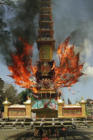 Cremation - Hindu cremation in Bali, Indonesia