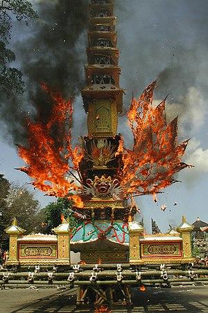 Cremation - Hindu cremation in Bali, Indonesia