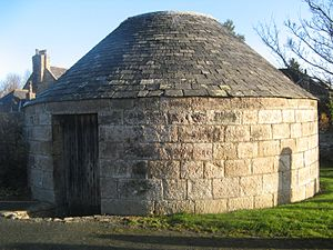 Grave robbery - Udny Mort House in Aberdeenshire, north-east Scotland
