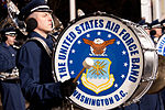 United States Air Force Band passes presidential reviewing stand 130121-Z-QU230-344.jpg